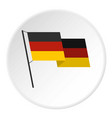 german flag icon circle vector image vector image