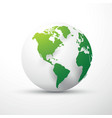 green earth globe america vector image