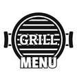 grill menu logo simple style vector image