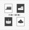 hand drawn silhouettes farm market posters vector image