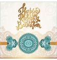 Happy Rakhi greeting card for indian holiday vector image vector image