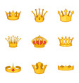 head crown icons set cartoon style vector image vector image