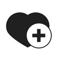heart love healthcare medical and hospital vector image vector image