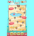 hello summer puzzle game level map vector image vector image
