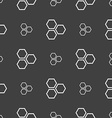 Honeycomb icon sign Seamless pattern on a gray vector image vector image