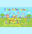 kids playground park poster vector image