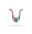 Letter U colorful logo vector image