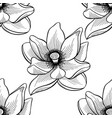 lotus lily water pattern vector image vector image
