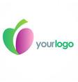 love organic logo vector image