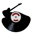 memphis soul music silhouette record vector image vector image