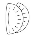 mexican patty icon outline style vector image