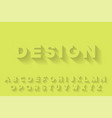 modern stylized font with shadow creative english vector image vector image