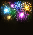 Multicolor Festive Firework Salute Burst on Black vector image vector image