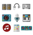 music intrument equipment graphic set vector image