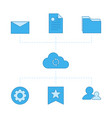 network files contacts settings and favorites vector image vector image