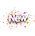 New paper banner vector image