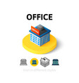 Office icon in different style vector image
