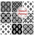 Old damask or damasque seamless pattern background vector image vector image