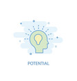 potential line concept simple line icon colored vector image