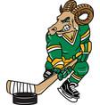 ram sports logo mascot hockey vector image vector image