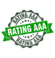 rating aaa stamp sign seal vector image vector image