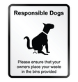 Responsible dogs Information Sign vector image vector image