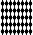 rhombus chess background in black and white vector image vector image