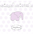 romantic baby girl announcement card vector image vector image