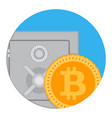 savings and accumulation of bitcoin icon flat app vector image vector image