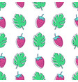 seamless pattern with monstera palm leaves and vector image vector image