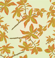 Seamless texture twig decorative shrub vector image vector image