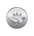 silver lotus plant icon vector image