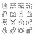 smart security lock icons set vector image vector image