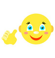 Smiley with a thumbs up gesture vector image
