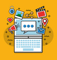 social media technological vector image vector image