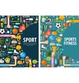 sport logo design template gymnastics vector image vector image