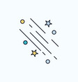 star shooting star falling space stars flat icon vector image