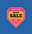 super sale badge logo design emblem vector image vector image