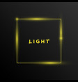 text light with rectangle shape background design vector image vector image