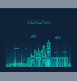 verona skyline italy linear style city vector image vector image