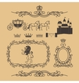Vintage royal and princess decor elements vector image vector image