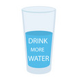 water glass icon in flat style glass of water on vector image vector image