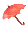 Watercolor red umbrella shelter from the rain