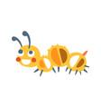 cute cartoon caterpillar colorful character vector image