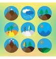 landscape icon set vector image