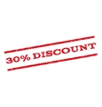 30 Percent Discount Watermark Stamp vector image vector image