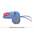 A White Whistle of British Antarctic Territory vector image vector image