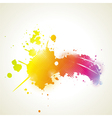 Abstract artistic Background with floral element vector image vector image