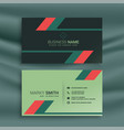 abstract geometric creative business card design vector image vector image