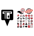 ATM Terminal Marker Flat Icon with Bonus vector image vector image